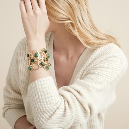 Olympie cabochons bracelet gold