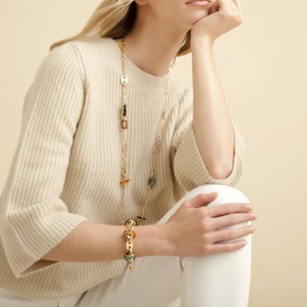 Prato bracelet acetate gold