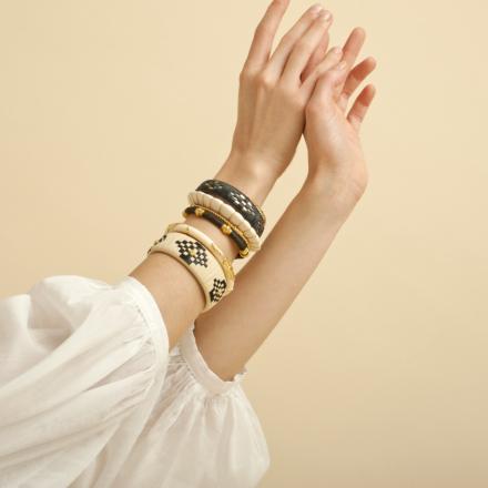 Rofia bracelet small size raffia gold