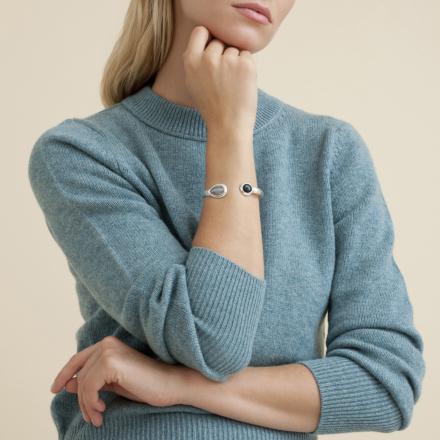 Saint Germain bracelet large size silver