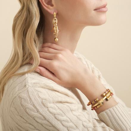 Sari Bis bracelet acetate gold - Clear