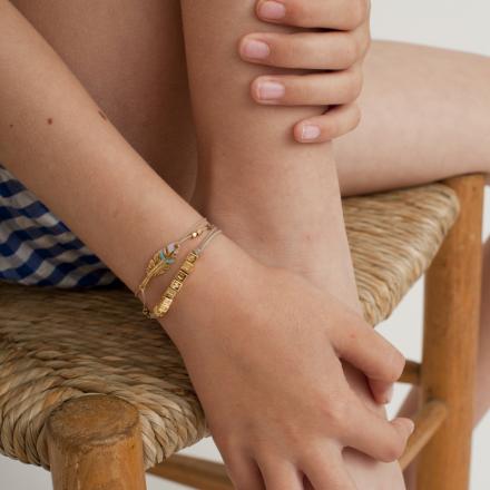 Unique kids bracelet gold