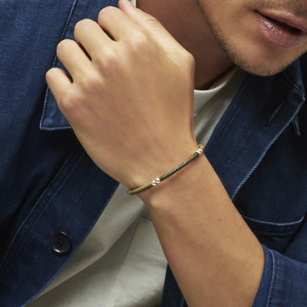 Zanzibar men cuff bracelet silver