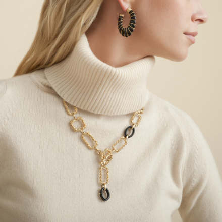 Belem necklace acetate gold