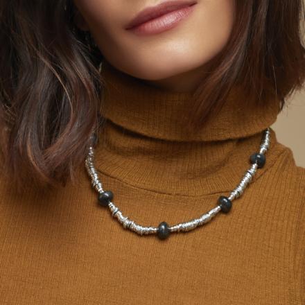 Biba necklace acetate silver
