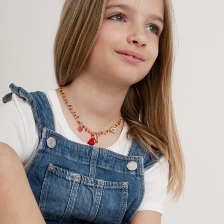 Gipsy charms kids necklace mini gold