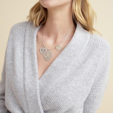 Gilot necklace large size silver