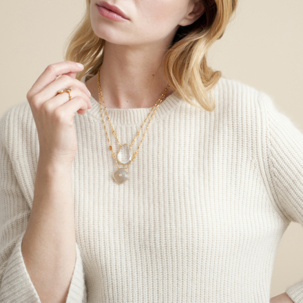 Scapulaire Serti necklace gold