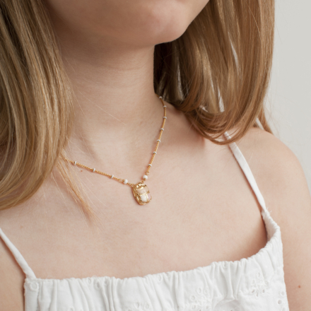 Scarabee necklace mini gold