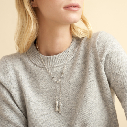 Tresse necklace silver