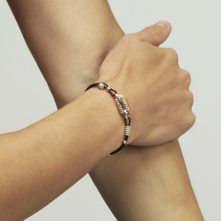 Escale men bracelet acetate silver