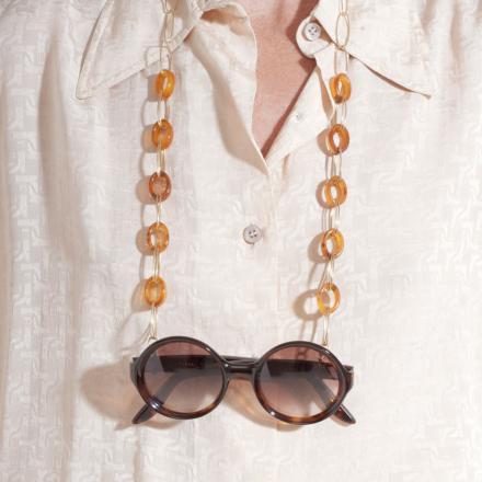 Escale necklace Glasses Chain small size acetate gold