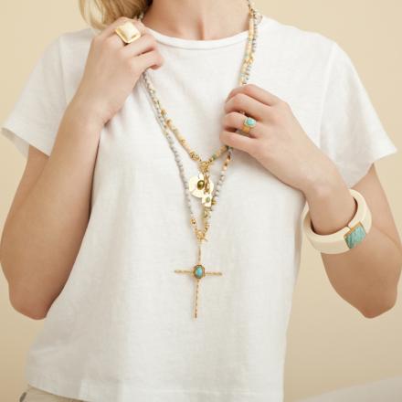 Aloha Santa Fé long necklace gold